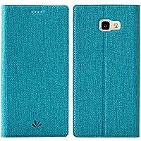 Samsung Galaxy A5 2017 Handyhülle, Feitenn dünne Premium PU Leder Flip Handy Schutzhülle | TPU-Stoßstange, Magnetverschluss, Kartenschlitz und Standfunktion Brieftasche Etui (Blau)