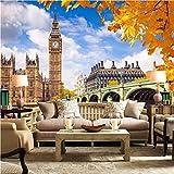 Mural Fotomural Papel Pintado Papel Tapiz Personalizado Mural De Londres Big Ben 3D Tv De Fondo Papel De Pared Papeles De Pared Decoración Para El Hogar Papel Tapiz 3D, 300 * 210 Cm