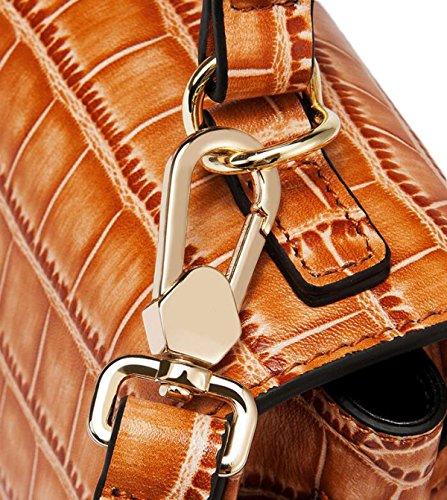 Borsa In Pelle Primo Strato Di Spalla Mano In Pelle Telefono Borsa Regalo Messenger Bag Di Natale Brown