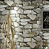 YA-ASKK Dcohom Vintage 3D Brick Stone Carta da Parati Strutturata per Camera da Letto Soggiorno Ristorante pareti Decor Muro di Mattoni Rotoli di Carta, 200 * 140