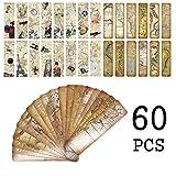 Segnalibri stile vintage per donna uomo, famoso edificio europeo Segnalibro punto di riferimento, Inspirational segnaposti per libro da viaggio - set di ottima qualità per massa (60 pezzi)