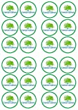 Conservative Party Edible PREMIUM THICKNESS SWEETENED VANILLA, Wafer Rice Paper Cupcake Toppers/Decorations by Cian's Cupcake Toppers Ltd