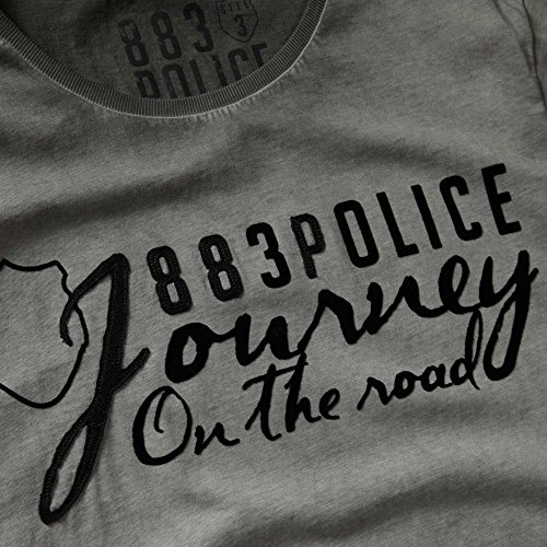883 POLICE Chance Graphic Print T-Shirt | Grey Grey