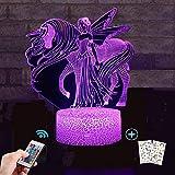 Licorne - Veilleuse Licorne pour enfant - Lumière 3D - 7 couleurs changeantes avec télécommande - Cadeau d'anniversaire et de vacances - Idée cadeau pour les enfants...