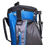 "Longridge Weekend - Bolsa para palos de golf con caballete (90 x 15 cm), color azul (navy silver) - 6"""