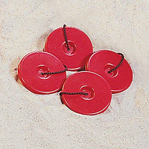 Donet Beachvolleyball Sandscheiben - Set für Spielfeldmarkierung
