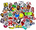 Pack of 100pcs  Stickers  Trendy Random Styles Stickers Pack   Best for Snowboard Luggage Suitcase Bike Bumper  Graffiti   Stickers Pack : everything 5 pounds (or less!)