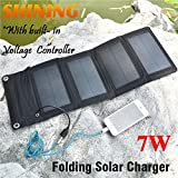Generic HOT! 7W Solar Charger For Mobile Phone Solar Panel Charger Foldable USB