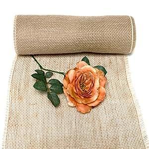 tgg chemin de table en toile de jute aspect naturel 30 cm. Black Bedroom Furniture Sets. Home Design Ideas