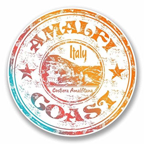 2x Amalfi Küste Italien Vinyl Aufkleber Aufkleber Laptop Auto Reise Gepäck Label Tag # 9703 - 10cm/100mm Wide -