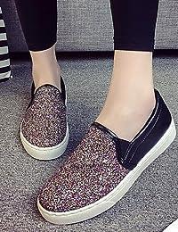 ZQ gyht Zapatos de mujer-Plataforma-Comfort / Punta Cerrada-Mocasines-Exterior / Deporte-Semicuero-Blanco / Almendra , white-us6 / eu36 / uk4 / cn36 , white-us6 / eu36 / uk4 / cn36