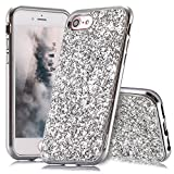 Slynmax Coque iPhone 8 Argent Coque iPhone 7/8 Silicone Paillette Strass Brillante...