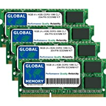 16GB (4 x 4GB) DDR3 1066MHz PC3-8500 204-PIN SODIMM MEMORIA RAM KIT PARA INTEL IMAC (FINALES DE 2009)