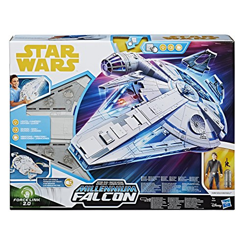 Hasbro E0320EU5 Han Solo Film Forcelink 2.0 Millennium Falcon, Spielset