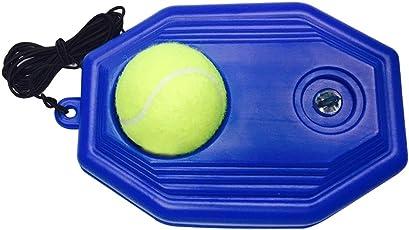 CampHiking® Single Tennis Ball Trainer Tennis Ball Training Boden mit einem Seil Selbststudium Tennis Rebound Player Tennis Baseboard Training Ball