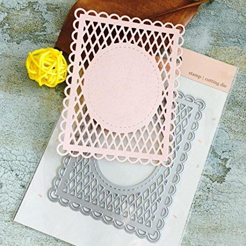 Scrapbooking Stanzschablone, FNKDOR Papierbasteln Schablonen Stanzmaschine Schneiden Stanzformen, für Sizzix big shot / Cuttlebug / und andere Prägemaschine (M)