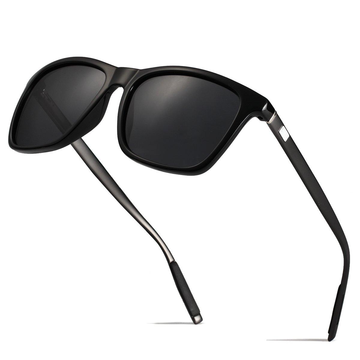 31c18a36dd BOYOU Polarizado Wayfarer Gafas de Sol Aviador Mujer Hombre Retro ...