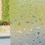 Fensterfolie statische elektrizität magic color windows und windows schiebetür aufkleber dekoration verdicken sie wärmedämmung anti-uv-A 45x100cm(18x39inch)