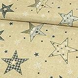 Stoffe Werning Dekostoff Weihnachten Sterne & Eiskristalle