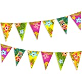 FEPITO 2-pack Hawaiian Bunting Banners Totally 6 meter Luau Tropical Party Bunting