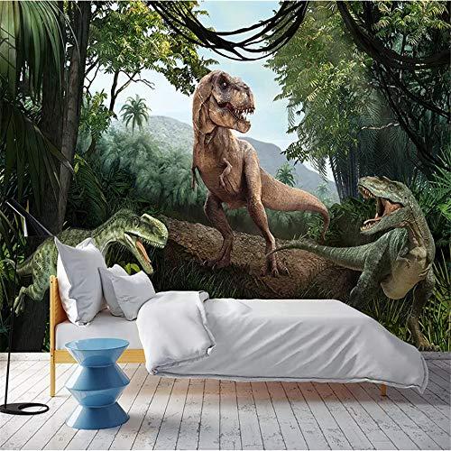 Wuyyii Benutzerdefinierte Fototapete 3D Dinosaurier Wandbild Restaurant Schlafzimmer Wohnzimmer Sofa Hintergrund Wasserdichte Tapetenrolle-200X140CM