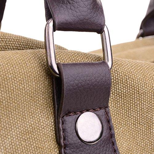 Super Modern tela Tote spalla bagaglio weekend borsone da viaggio uomo in pelle, Uomo, Brown Brown