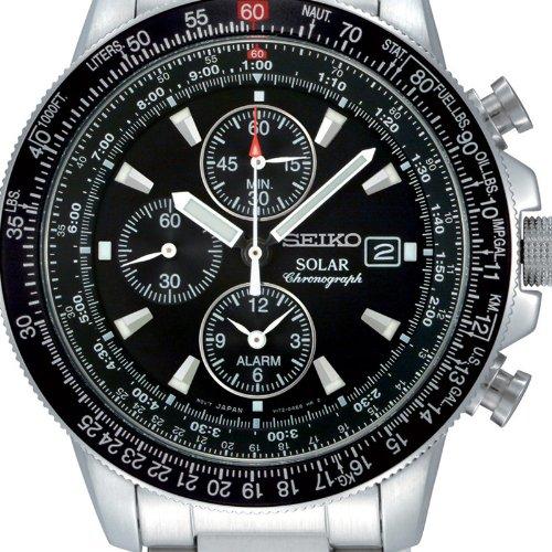 Seiko Herren-Armbanduhr Solar Chronograph SSC009P1