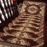 JFFFFWI Tapis d'escalier Haut de Gamme Marron antidérapant 8 cm d'épaisseur Tapis...