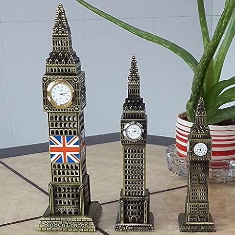 XJoel statua Big Ben a Londra Segni decorazione Decorazione Glorioso rame puro, 24 centimetri in (Piegare I Vestiti Rack)