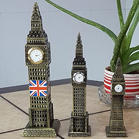 XJoel Big Ben Statue London Landmarks Glorious Home Decoration Make of Pure Copper, Chirstmas Gift 24cm Bronze