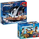 PLAYMOBIL® Piraten 2-tlg. Set 6678 Piraten-Kampfschiff + 6683 Piraten-Schatzversteck
