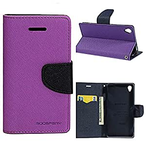 KONARRK Flip Case Cover With Stand For SAMSUNG GALAXY STAR PRO (Purple & Blue)