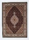 Nain Trading Indo Täbriz 199x143 Orientteppich Teppich Beige/Lila Handgeknüpft Indien