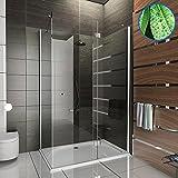 Eck Duschen Glas-Duschkabine Design Duschkabine inkl. Glasveredelung Echtglas Dusche Duschabtrennung Wannenmaß 120x90x195