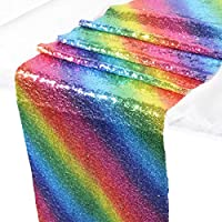 Zblp Camino De Mesa 30 * 180 Cm 30 * 270 Cm Rainbow Sequin Table Runner