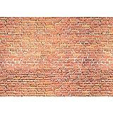 Fototapete Stein - ALLE STEINMOTIVE auf einen Blick ! Vlies PREMIUM PLUS - 400x280 cm - RED BRICK STONE WALL Wandbild Steinwand Steintapete Ziegelwand Ziegel rot Mauer Ziegelmauer - no. 136