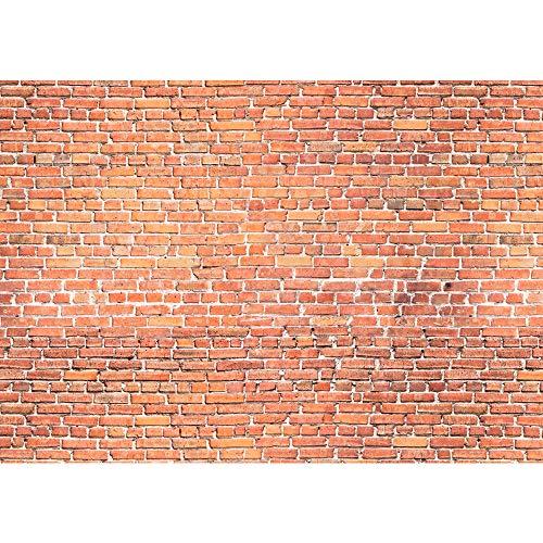 Fototapete 400x280 cm - ALLE TOPSELLER auf einen Blick ! Vlies PREMIUM PLUS - RED BRICK STONE WALL - Wandbild Steinwand Steintapete Ziegelwand Ziegel rot Mauer Ziegelmauer - no. 136