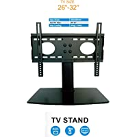"""Gadget-Wagon Floor Stand with Tempered Glass Base for 26-32"""" LED LCD TV"""