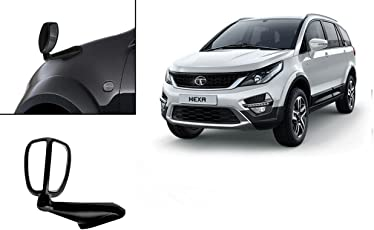 Auto Pearl - Premium Quality Front Fender Wide Angle Mirror Bonnet Mirror (Black) For - Tata Hexa