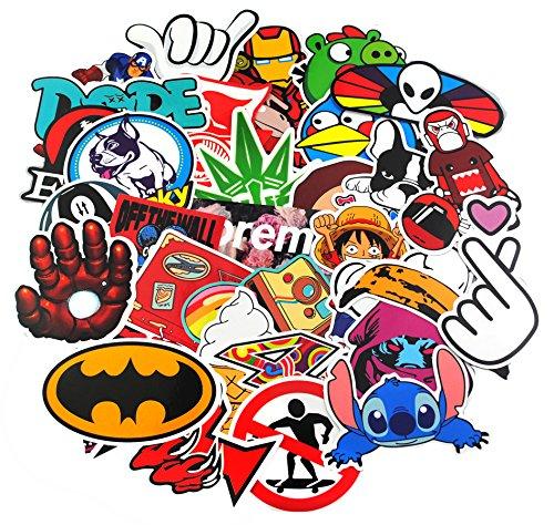 Aufkleber Pack [100-pcs] Graffiti Sticker Decals Vinyls für Laptop, Kinder, Autos, Motorrad, Fahrrad, Skateboard Gepäck, Bumper Sticker Hippie Aufkleber Bomb wasserdicht (Sticker-8)