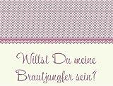 Karte in creme/rosa - Willst Du meine Brautjungfer sein?