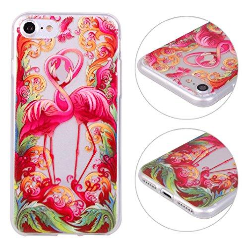 Hülle iPhone 7 Silikon Weich TPU Zurück Schutzhülle Bumper Flamingo Schale Stoßstange Tasche Halter Handyhülle Handytasche Abdeckung Zurück Schutzhülle Haut Fall Mirror Effect Case Soft TPU Anti-scrat color-5