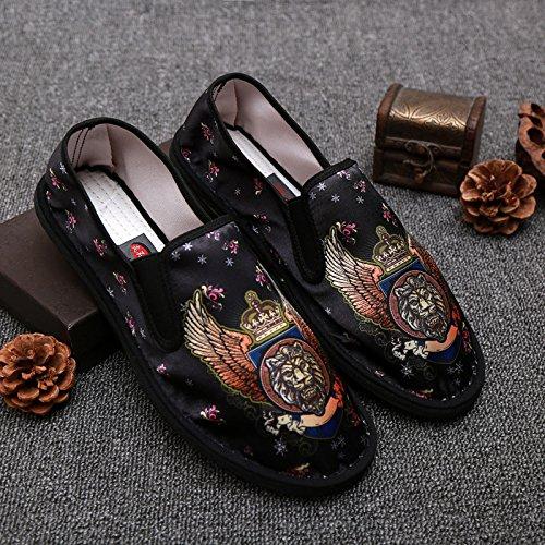 LvYuan Unisex scarpe di stoffa cinese tradizionale / informale retrò Breathe scarpe ricamate / scarpe Kung Fu / Arti marziali / slip-on scarpe 2#