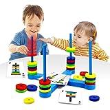 VATOS Brettspiel, Pädagogisches Kinderspiele ab 3 4 5 6 7 8 Jahre, Magnetisches Match-Spiel für Jung und Alt spaßige und amüs