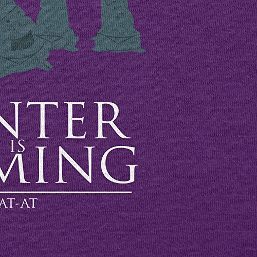 TEXLAB - AT AT Winter Is Coming - Herren T-Shirt Violett