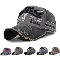 CheChury Cap Summer Cap Vintage Cotton Baseball Cap Unisex Distressed Snapback Trucker Hat