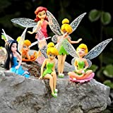 #6: New 6PCS Tinkerbell Toy Tinker Bell Playset Dolls Flying Fairy Princess Mini Figures Baby Girl Birthday Gift Cake Toppers