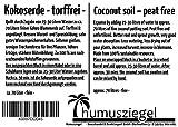 70 L Kokosblumenerde Quellerde – 5 kg Kokos Brikett - 5