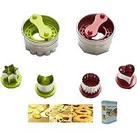 KeepingcooX Torte remplie de Confiture | De Coupe-Biscuits Classique Linzer - Coeur, étoile, Fleur, Lune | Acier…