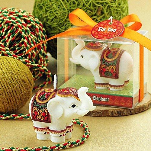 GranVela Kreative Elefanten Rauchlose Kerzen, Kuchen Dekorieren und Party Supplies, Charmante Geschenke (Unscented Jar Kerze)